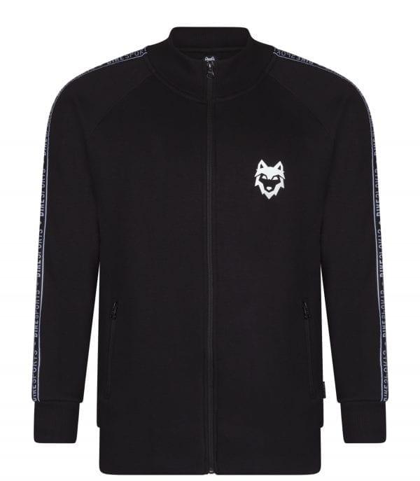 Voorkant DIREsports zwart Sweatvest met klein DIRE logo